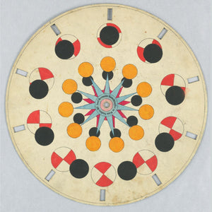 Optical Toy, Phenakistiscope Disc with Geometric Shapes c.1840 Cooper Hewitt Smithsonian Design Museum.