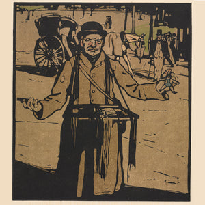 London Types : Hawker by William Nicholson - 1898.  Printmaker William Nicholson worked in partnership with his brother-in-law James Pryde, under the pseudonym the Beggarstaf Brothers.