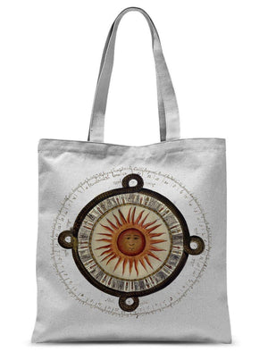 Aztec Sun Calendar, 1792 - Sublimation Tote Bag