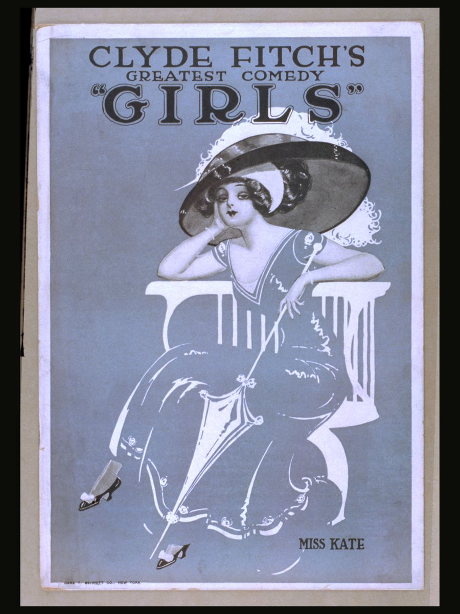 Clyde Fitch's Girls Poster - 1910