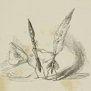 Quill and Pen by J.J. Grandville - 1844