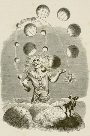 Juggling the Planets by J.J. Grandville - 1844