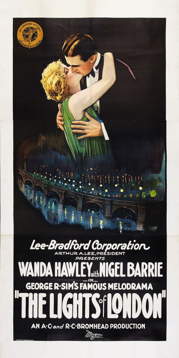 Poster for The Lights of London - 1923
