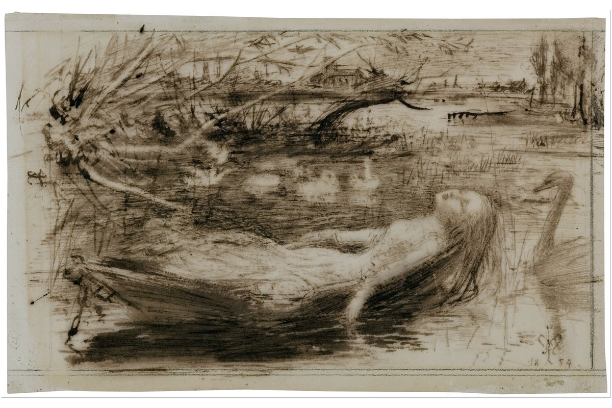 The Lady of Shalott by Sir John Everett Millais - 1954