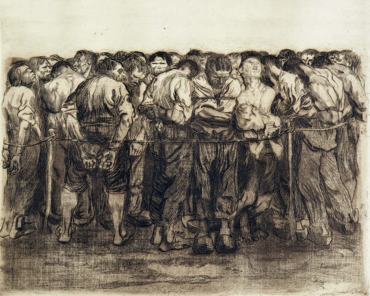 The Prisoners by Käthe Kollwitz - 1908