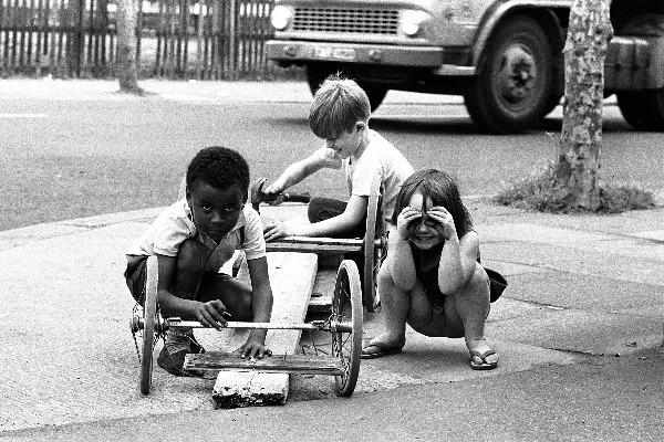 Children Playing in East London by Steve Lewis - 1960s