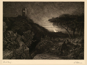 The Lonely Tower by Samuel Palmer - 1879