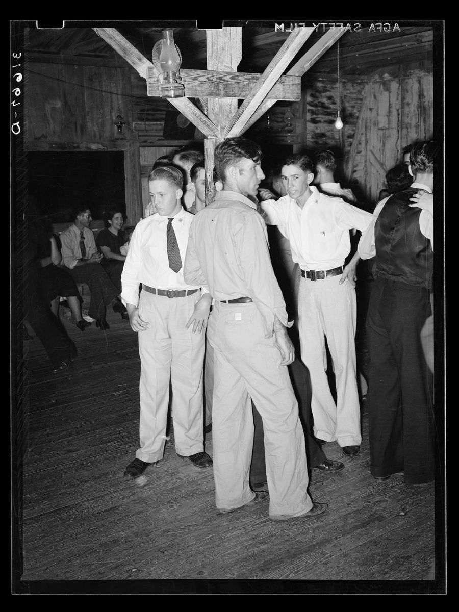 Cajun Men at a Fais-do-do dance by Russell Lee - October 1938