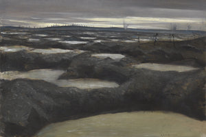 After A Push by C.R.W. Nevinson - 1918