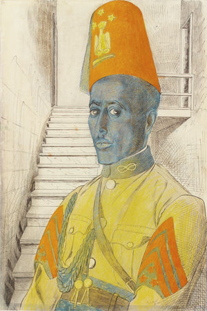 A Sergeant in the Police Force formed by the Italians by Edward Bawden - c.1942