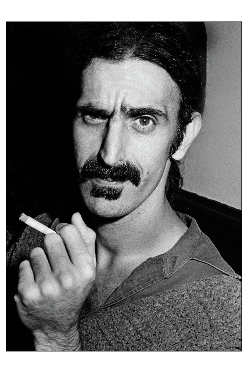 Frank Zappa at Max's Kansas City, New York - by Mark Weiss, 1981.
