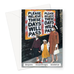 Despotic Misanthropic Existence by Miriam Elia - Greeting Card