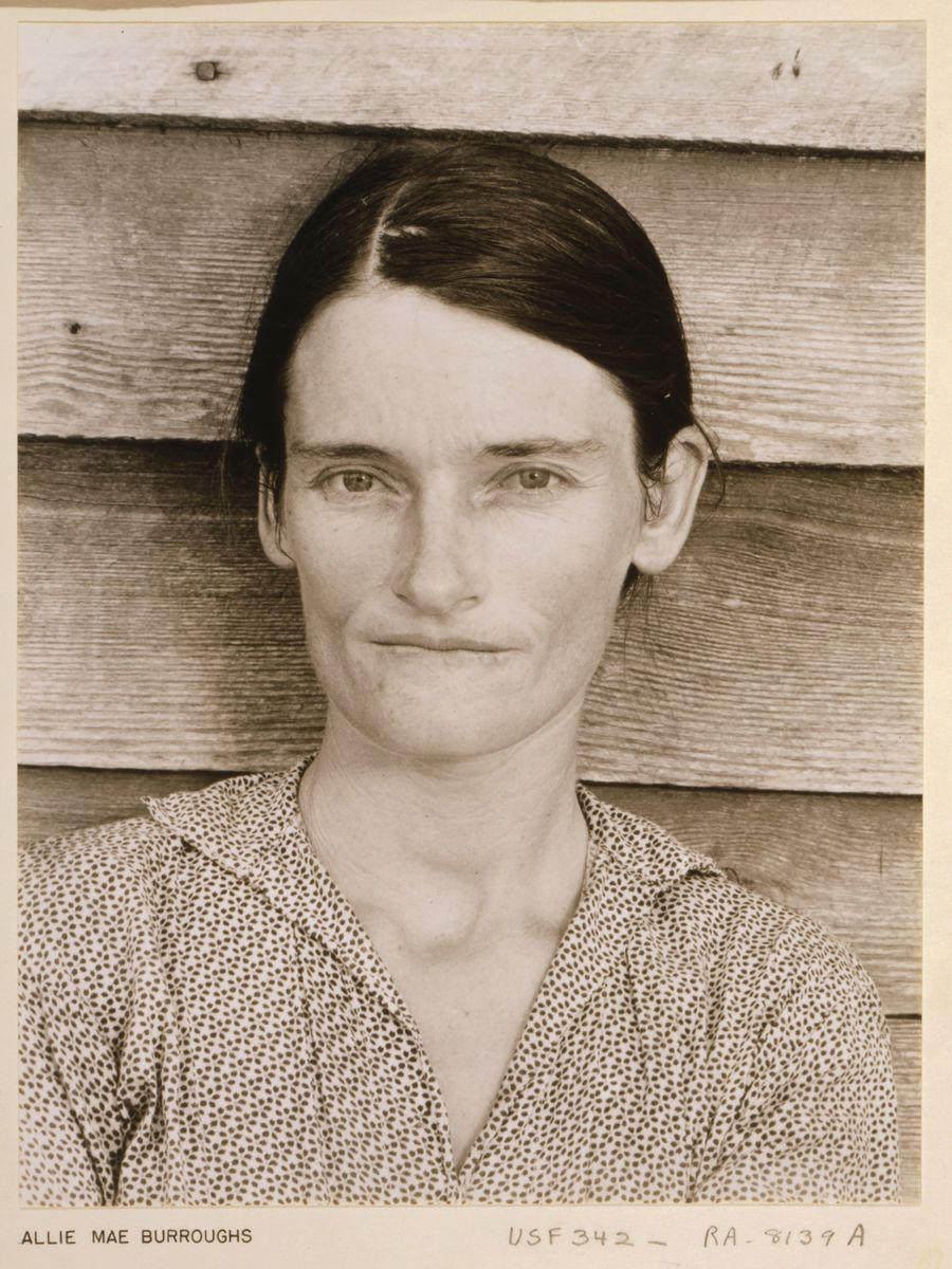 Allie Mae Burroughs, Alabama Sharecropper by Walker Evans - 1935
