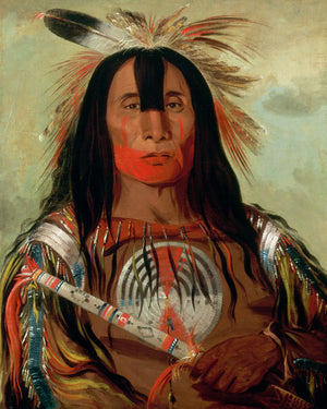 Stu-mick-o-súcks, Buffalo Bull's Back Fat, Head Chief, Blood Tribe by George Catlin - 1832