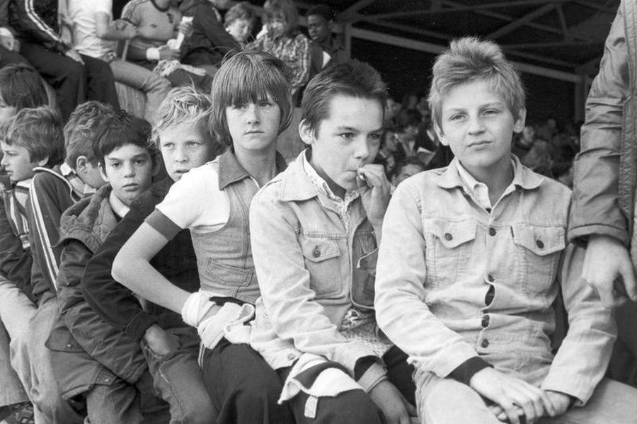 Young Football Fans Smoking in Manchester by Iain S. P. Reid, c. 1977