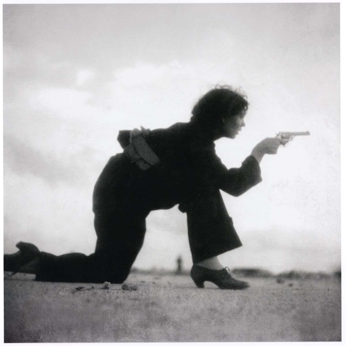 Republican Militia woman training on the beach outside Barcelona by Gerda Taro - August 1936
