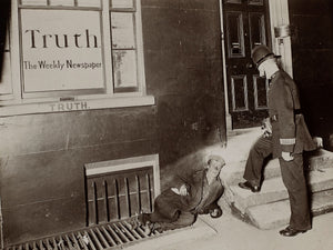 Truth by Jack London - 1902 - London - Only were to be seen the policemen, flashing their dark lanterns into doorways and alleys.