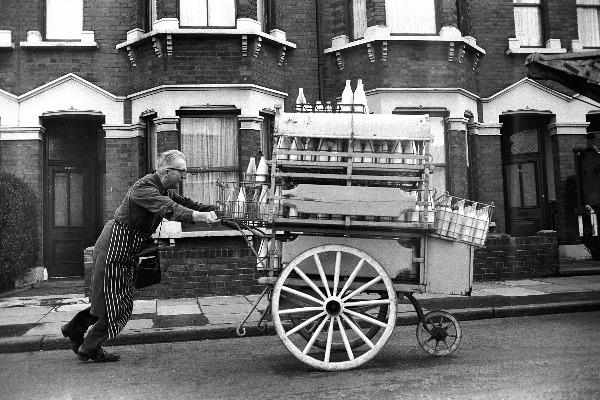 Milkman in East-London by Steve Lewis - 1960s