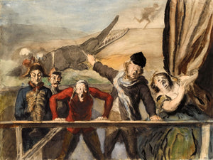 Sideshow (Carnival) by Honoré Daumier - 1864