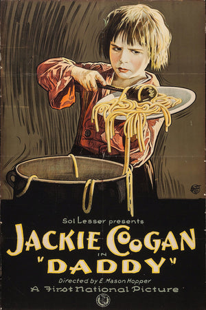 Poster for 'Daddy' Starring Jackie Coogan - 1923