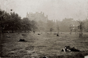 Men Sleeping in Green Park, London by Jack London - 1902