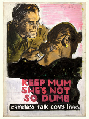 Keep Mum, war poster - c. 1940