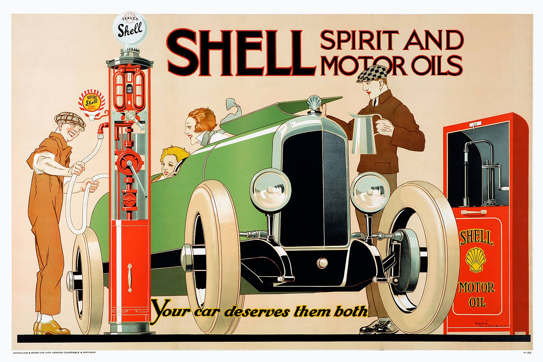 Shell Advert by Rene Vincent - 1926