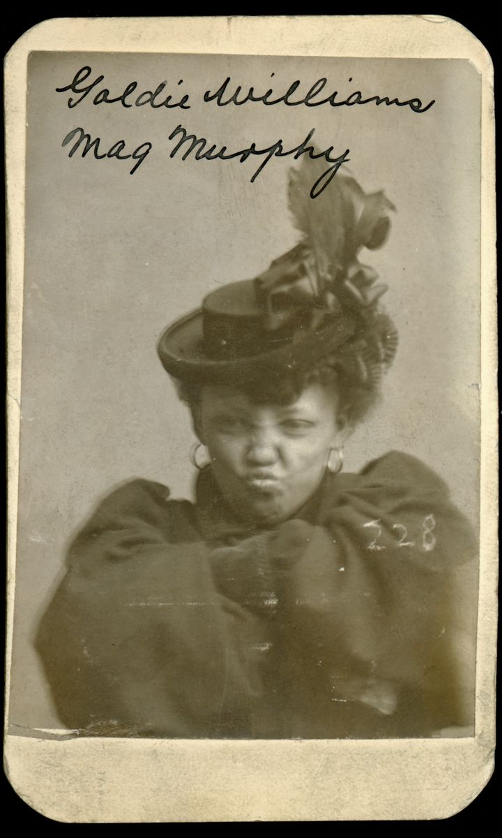 Goldie Williams' Mugshot - 1898