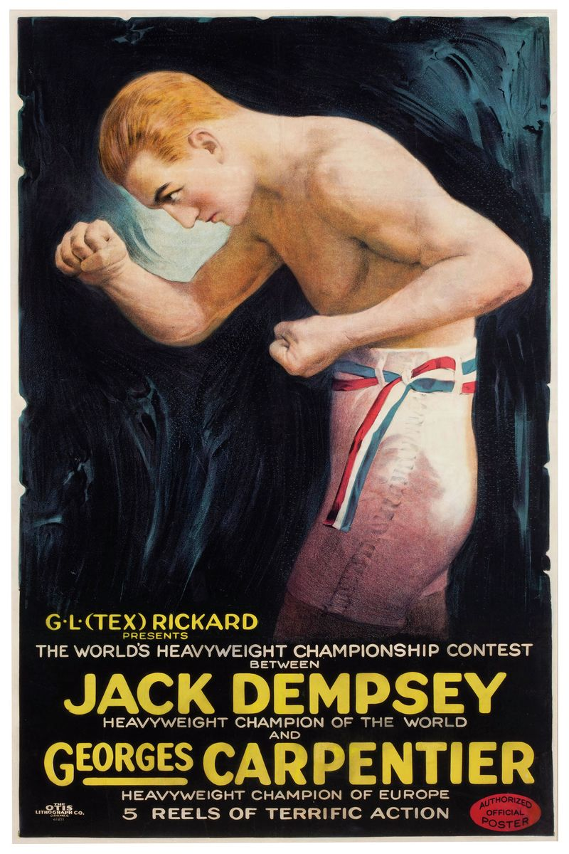 Jack Dempsey vs. Georges Carpentier Poster 1921