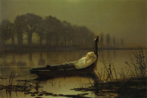 The Lady of Shalott by John Atkinson Grimshaw -  c.1875