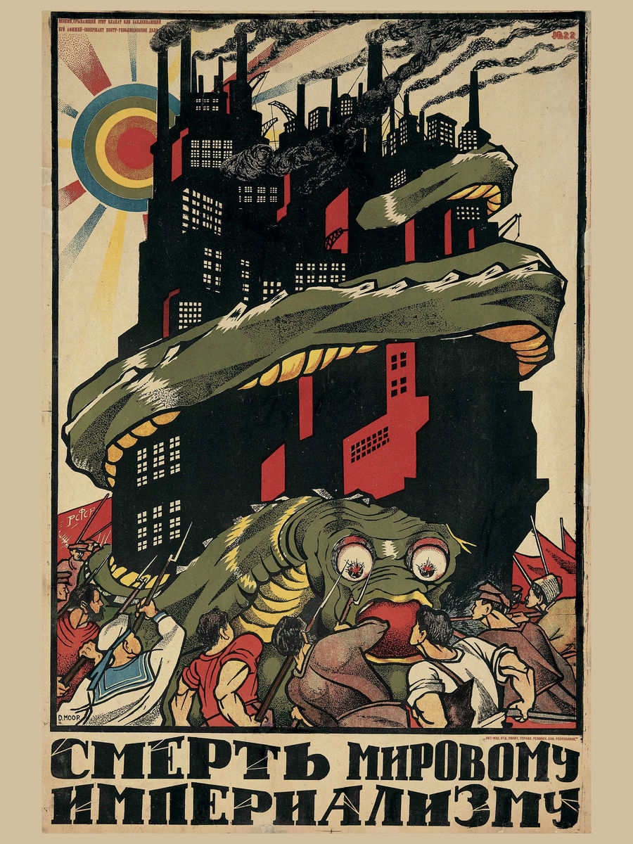 Death to World Imperialism by Dmitrii Moor - 1920