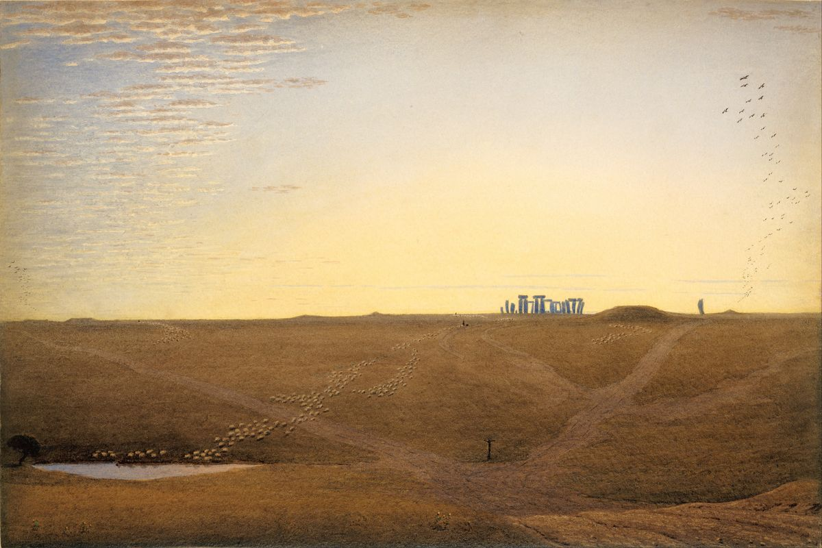 Stonehenge at Twilight by William Turner of Oxford - c.1840