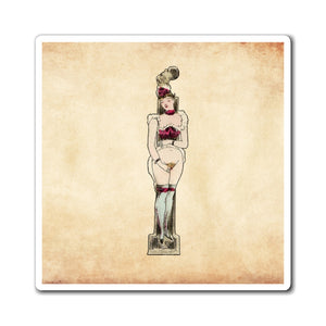 Magnet featuring the letter I from the Erotic Alphabet, 1880, by French artist Joseph Apoux (1846-1910).