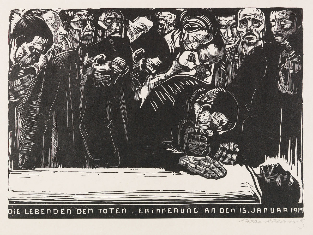 Memorial Sheet for Karl Liebknecht by Käthe Kollwitz - 1919
