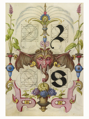 Guide for Constructing the Letters r and s by Joris Hoefnagel - 1591