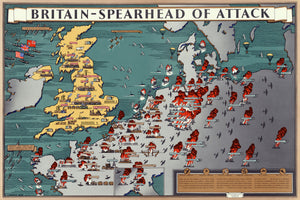 Britain Spearhead of Attack Poster - 1943-45