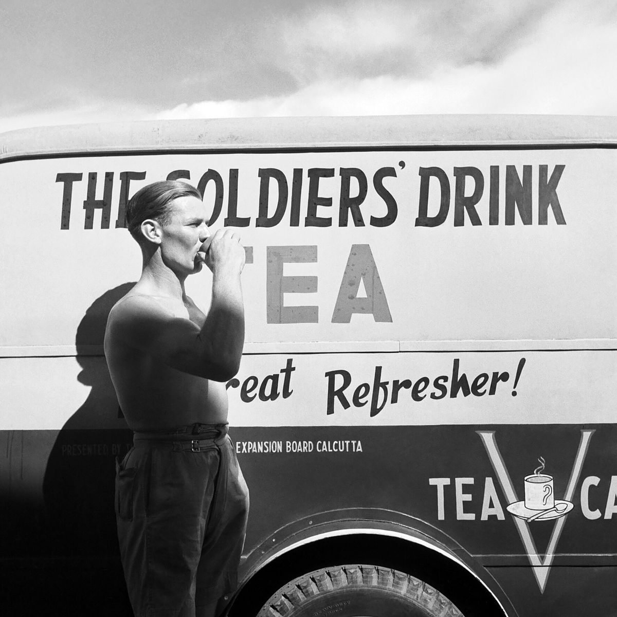 A Soldier Drinking Tea