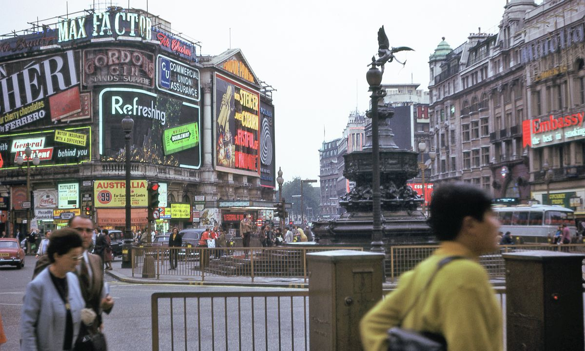 Piccadilly Circus, London (II)- 1972