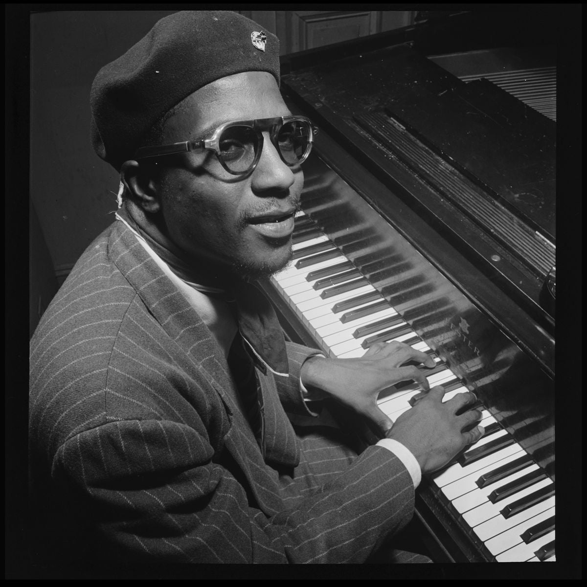 Portrait of Thelonious Monk, Minton's Playhouse by William P. Gottlieb - 1947