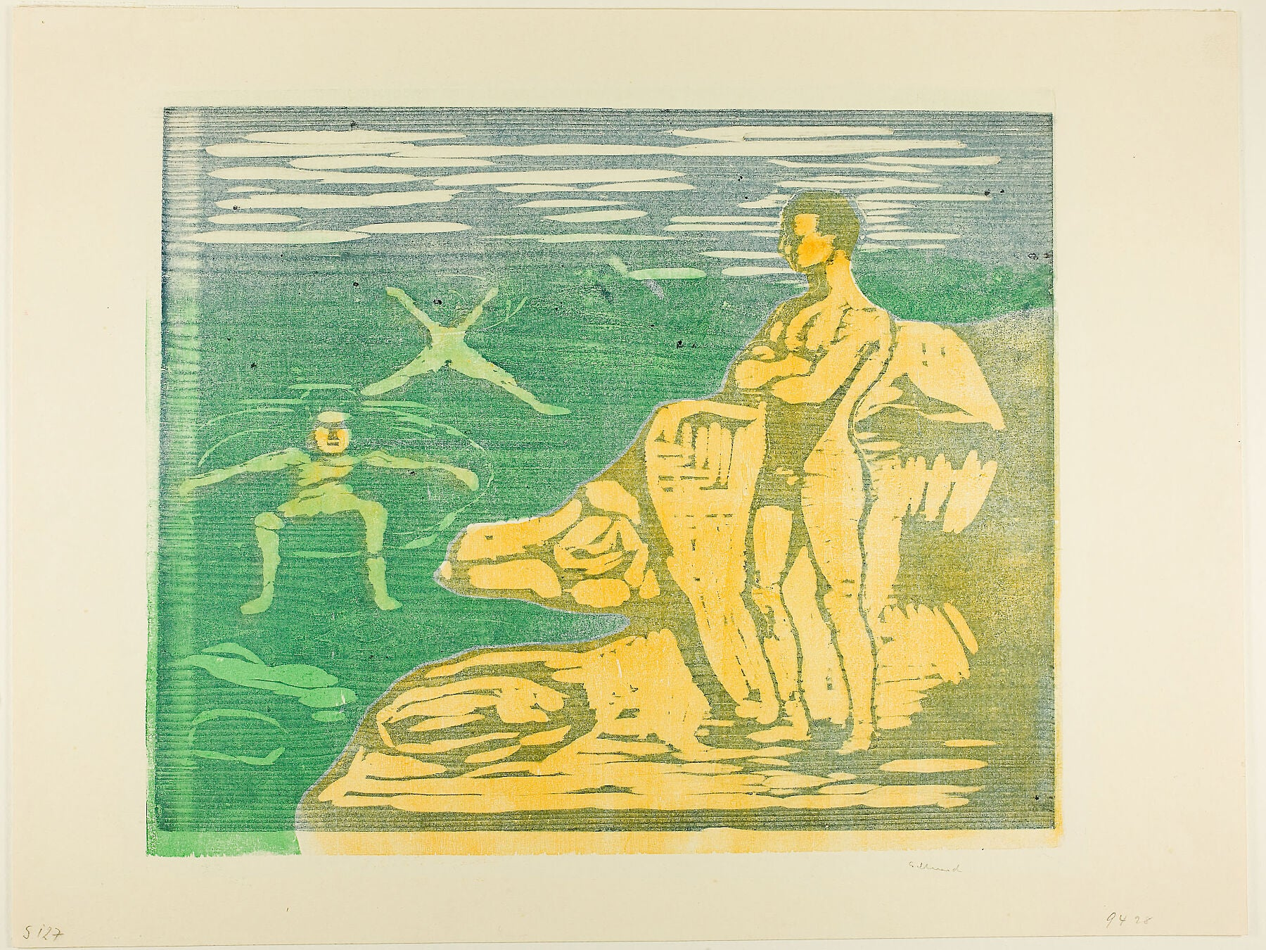 Boys Bathing by Edvard Munch - 1899