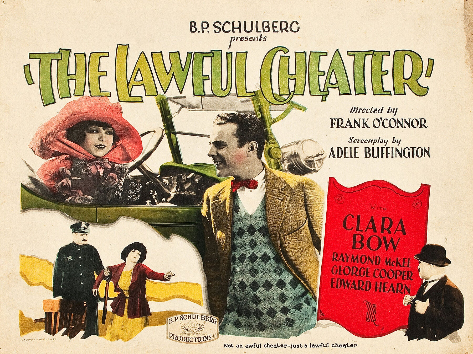 The Lawful Cheater, Lobby Card - 1925