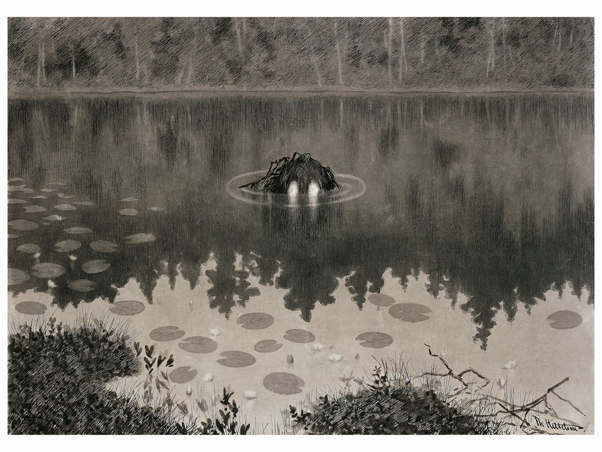 Monster in The Lake by Theodor Kittelsen - 1892