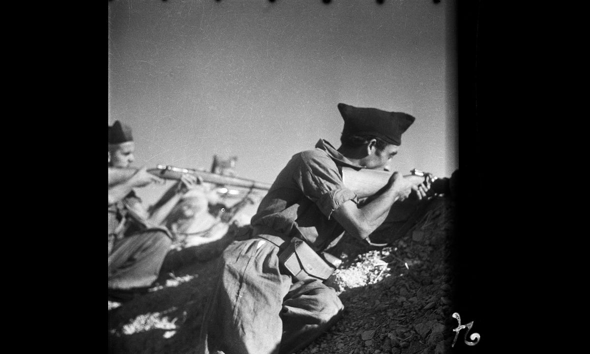 Republicans Fire Weapons on the Cordoba Front by Gerda Taro - September 1936