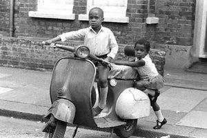 Two Boys Playing In East London by Steve Lewis - 1960s
