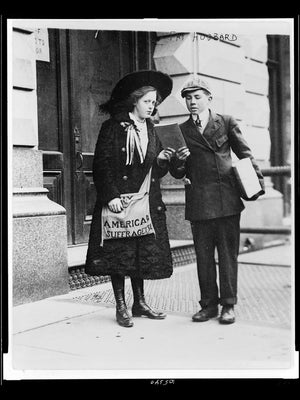 Fay Hubbard, 13-Year Old Suffragette in NYC - 1910