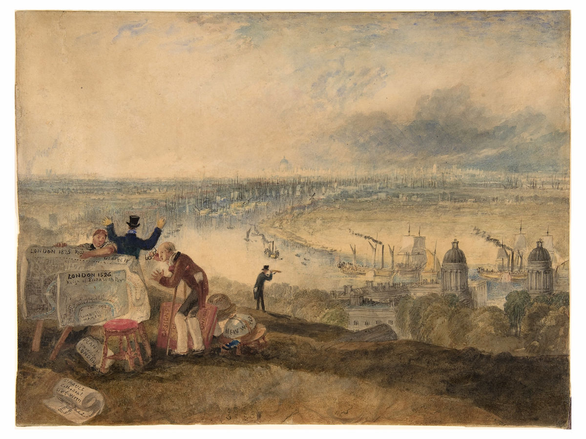 View of London from Greenwich by J. M. W. Turner -1825