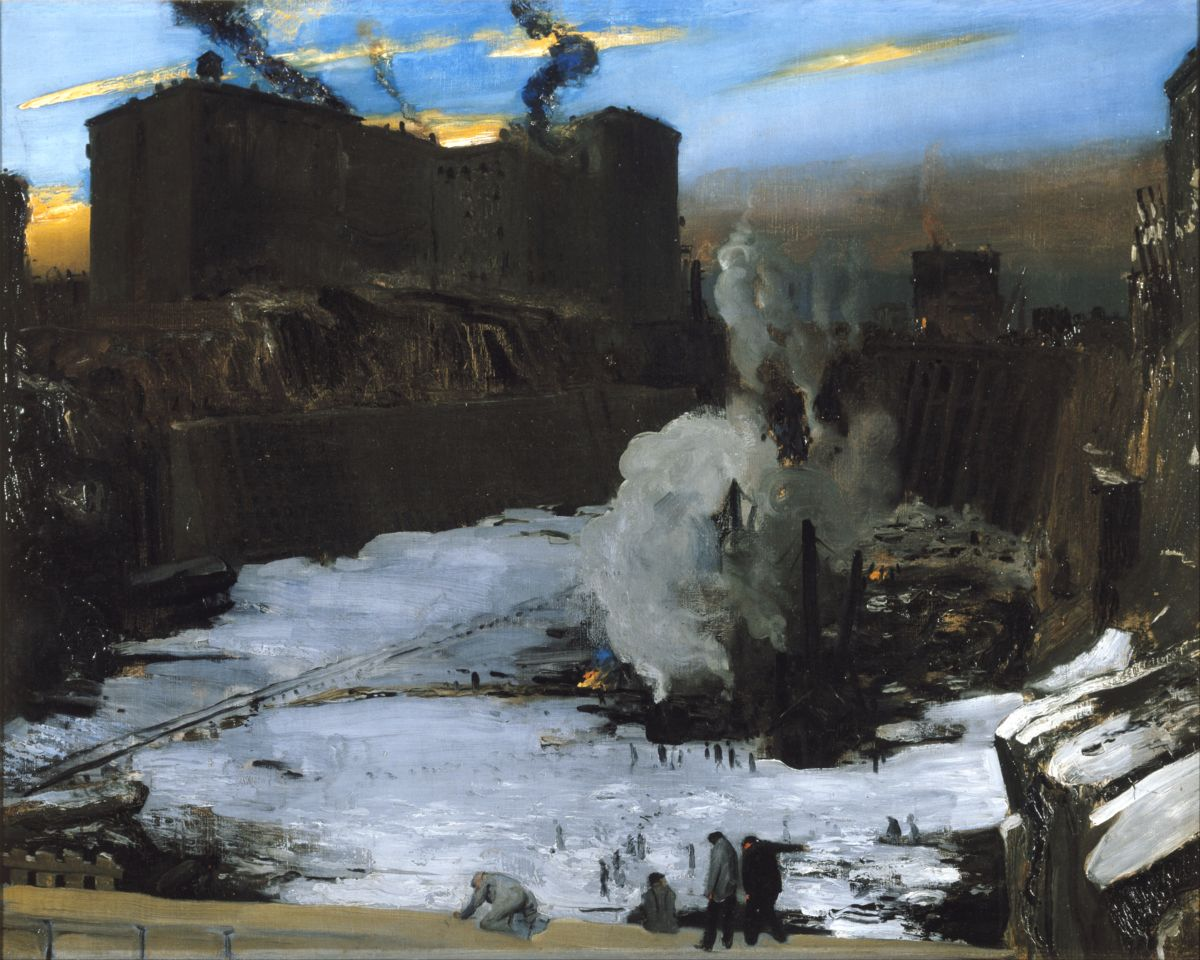 Pennsylvania Station Excavation by George Wesley Bellows - 1907-8