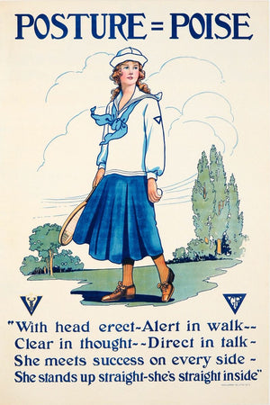 YWCA Motivational Health Poster - c.1925