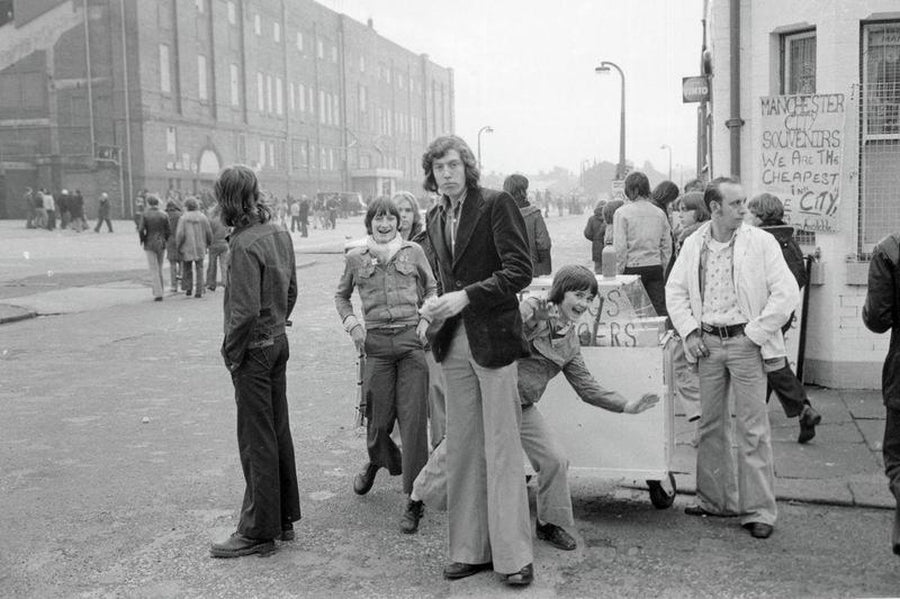 Burger Stall Larks in Manchester by Iain S.P. Reid - circa 1977