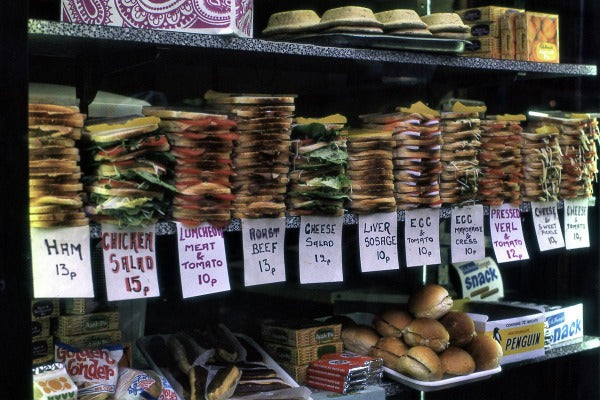 Sandwiches for Sale in London - 1972